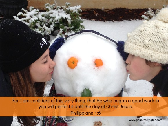 Snowman with Text