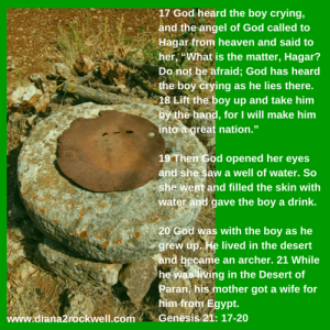 17 God heard the boy crying, and the